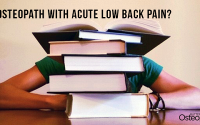 What happens when the osteopath comes down with acute low back pain?